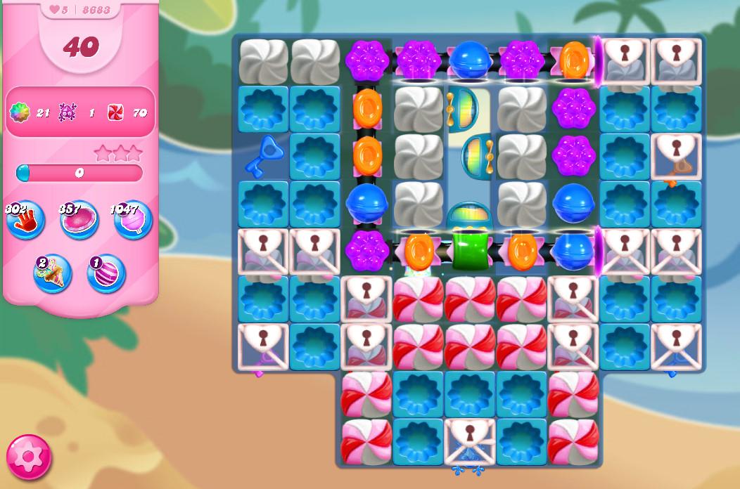 Candy Crush Saga level 8833