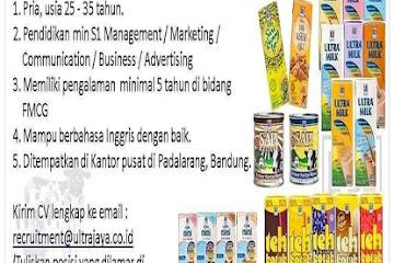 Lowongan Kerja Brand Manager Ultra Milk TBK Bandung