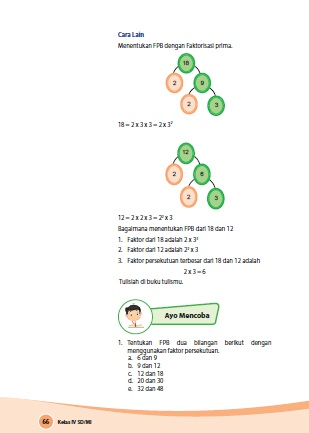 Kunci Jawaban Buku Senang Belajar Matematika Kelas 4 Kurikulum 2013 Revisi 2018 Halaman 66 67 69 Kunci Soal Matematika