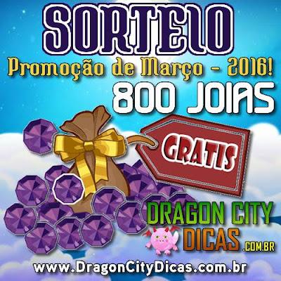 Super Sorteio de 800 Joias Grátis - Março 2016
