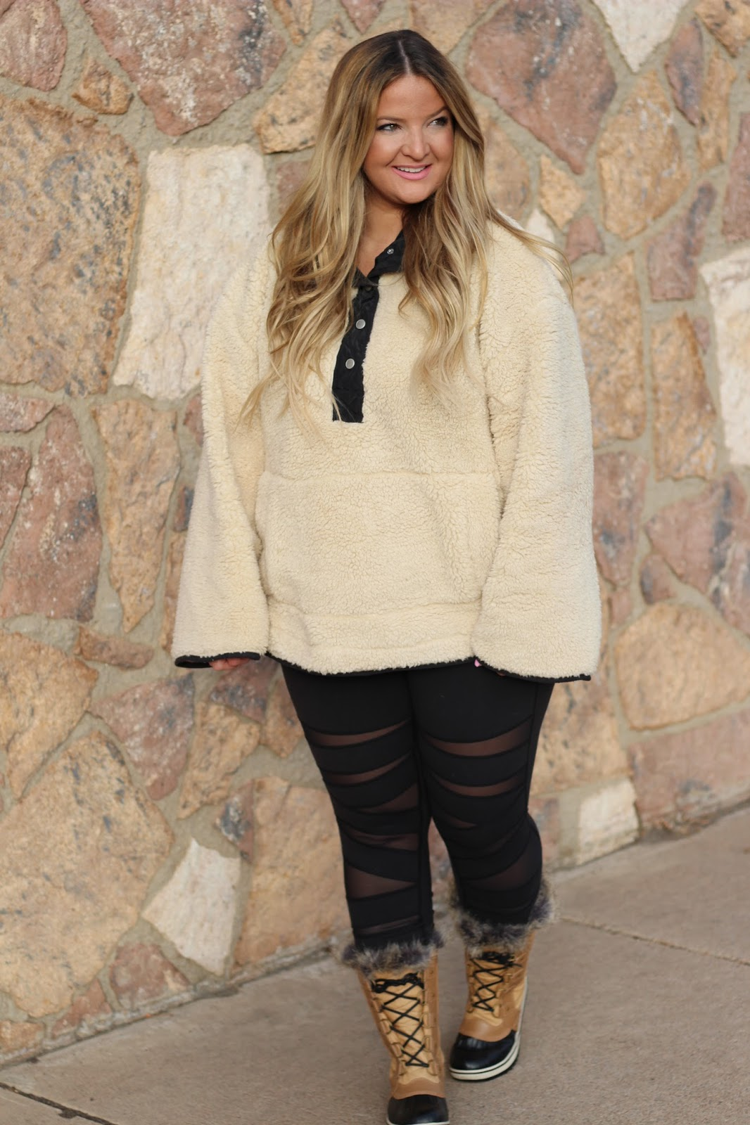 Nordstrom cozy sweater outfit by popular Denver fashion blogger Delayna Denaye