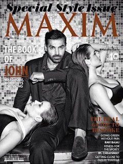 John Abraham on the Cover Page of Maxim India magazine special style April 2016