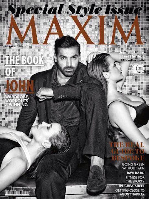 John Abraham On The Cover Of Maxim India Magazine Special Style April 2016 Issue