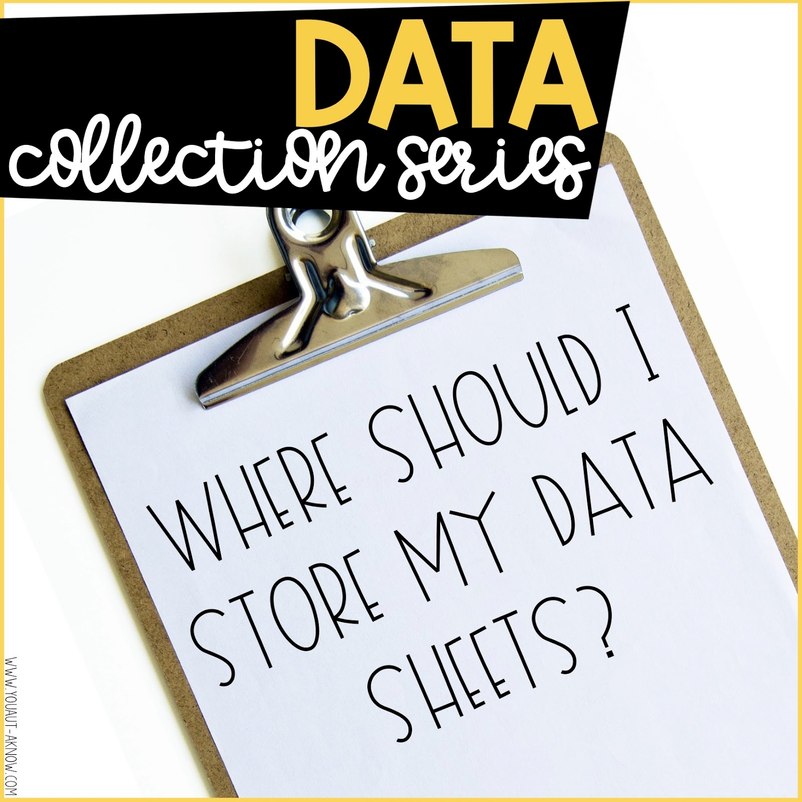 Are you wondering where you should store your data sheets to ensure data is being collected frequently in your special education classroom? Find out where I store data sheets and get maximum data collection from all of my staff.
