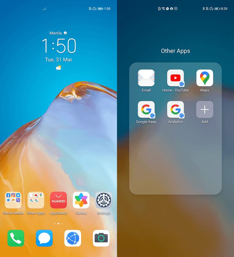 Google on new Huawei phones