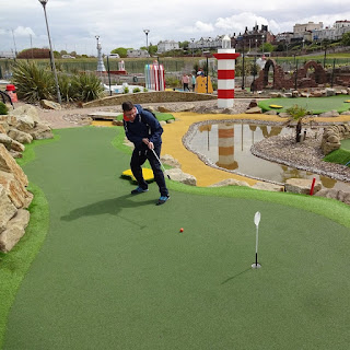 Playing at Championship Adventure Golf in New Brighton on National Miniature Golf Day, Saturday 13th May 2017