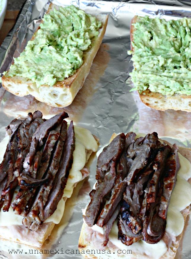 Pepitos - Sándwich Mexicano de carne asada y aguacate By www.unamexicanaenusa.com
