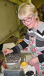 Brenda Wilbee making candy
