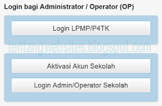 Operator padamu negeri tidak bisa login