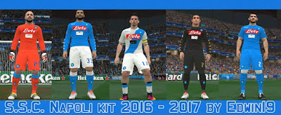 SSC Napoli kit 2016-2017 by Edwin