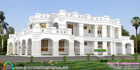 5 BHK decorative style Colonial home