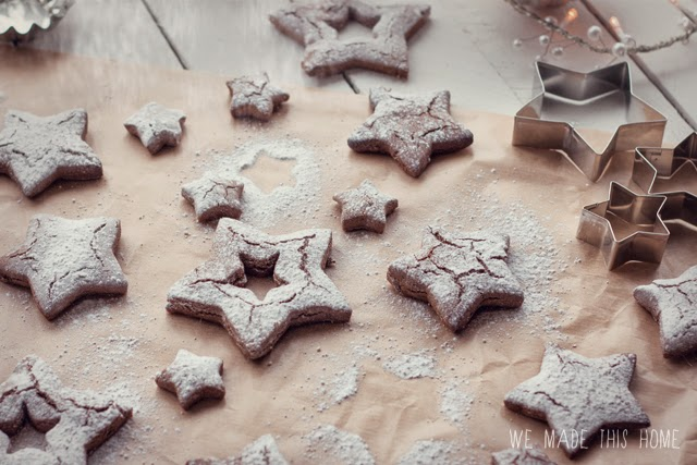 Seasonal christmas biscuits