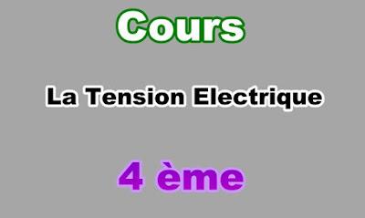 Cours Sur la Tension Electrique 4eme en PDF