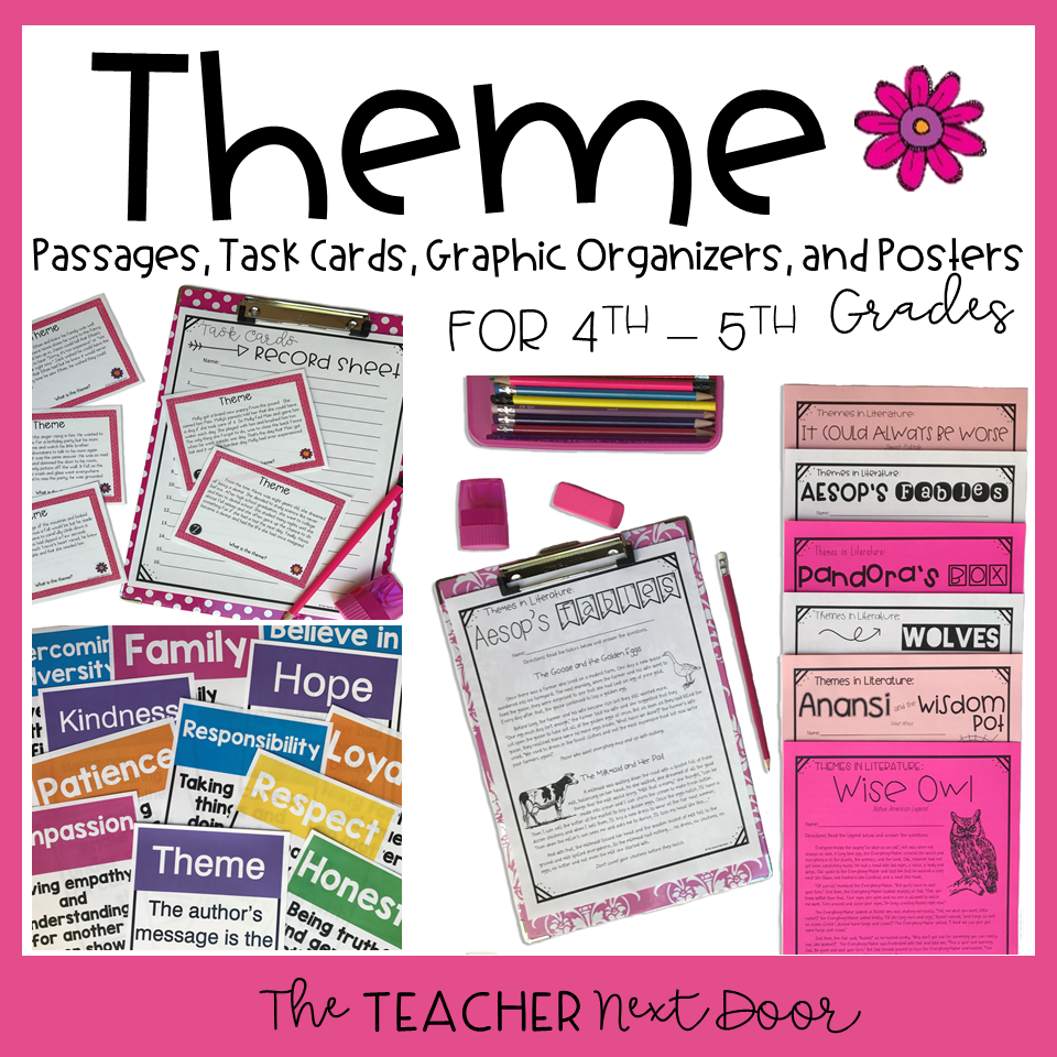 Activities to Teach Theme   Upper Elementary Snapshots [ 960 x 960 Pixel ]