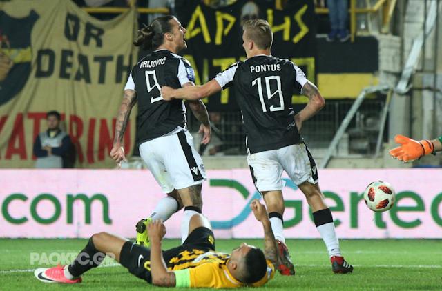 """Δίκαιος νικητής ο ΠΑΟΚ, 1-2 τον Αρη στο """"Κλ. Βικελίδης"""""""