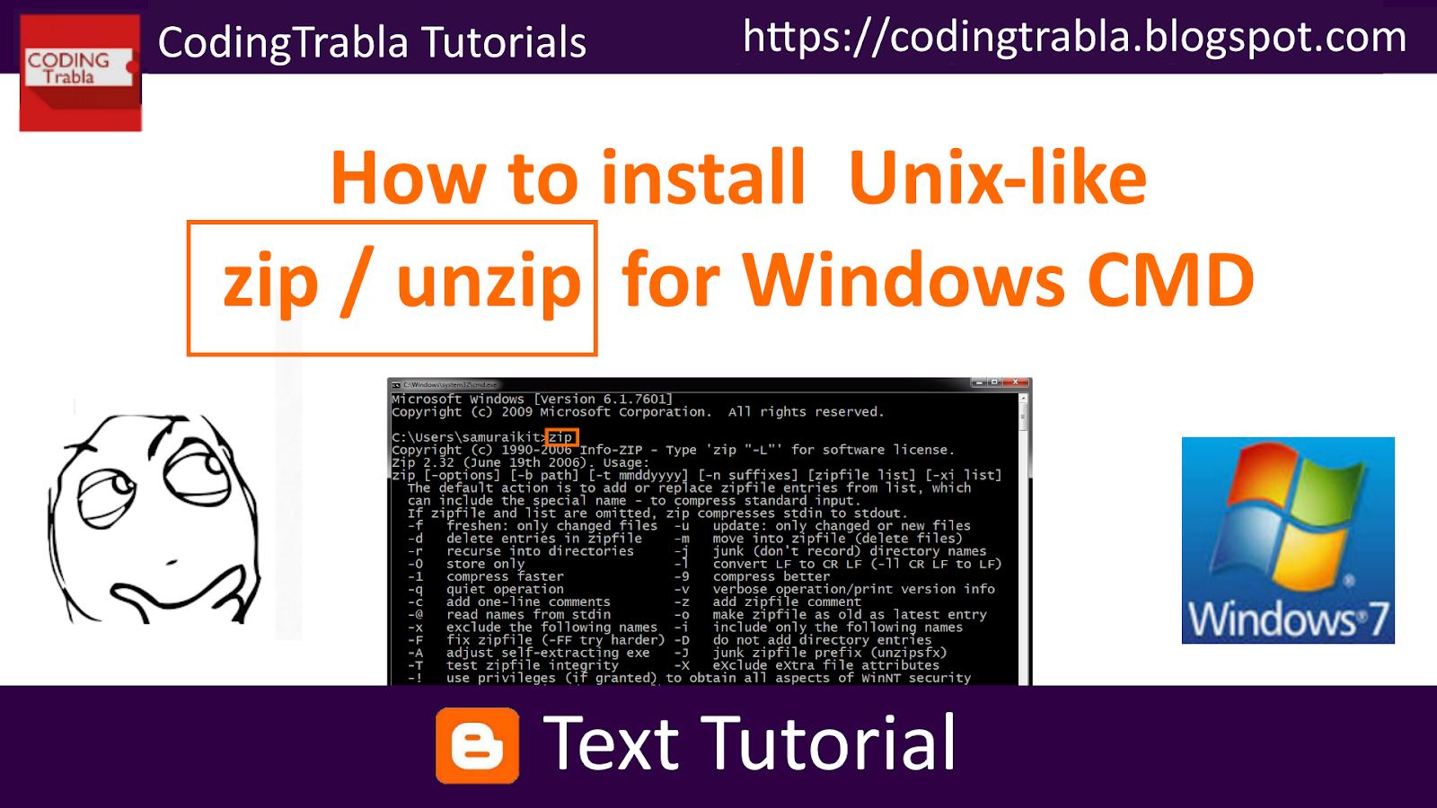 Unzip In Unix