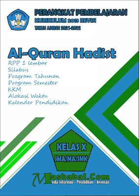 Perangkat Pembelajaran Al-Quran Hadist Kurikulum 2013 Revisi Terbaru