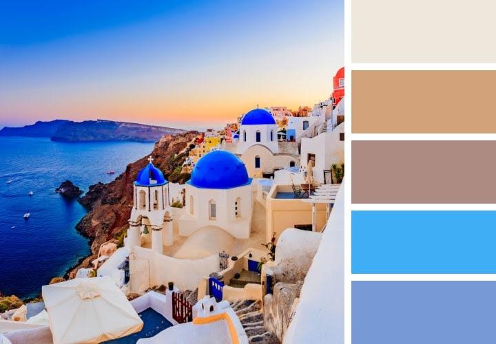 Santorini Color Scheme