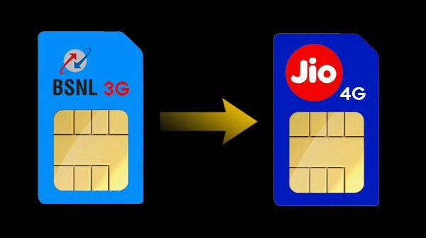BSNL 3G SIM Port to Reliance Jio 4G Network