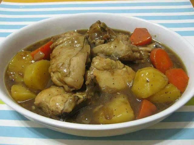 Resepi Ayam Masak Stew Mudah dan Sedap