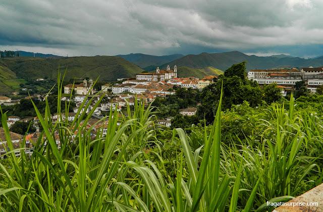 Ouro Preto vista da estrada para Mariana