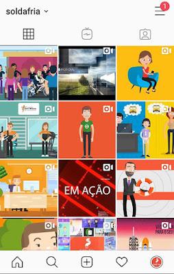 videos no feed do instagram