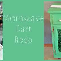 Before and After - Microwave Cart Redo