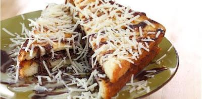roti bakar coklat keju - resep roti bakar kekinian