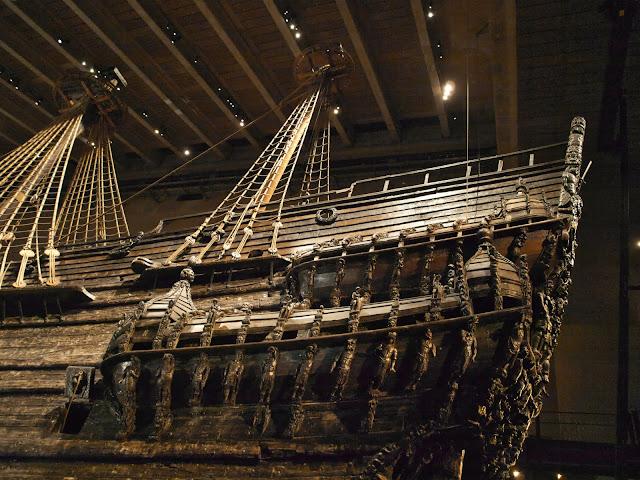 jiemve, Vasa, bâteau, musée, décoration, poupe, château