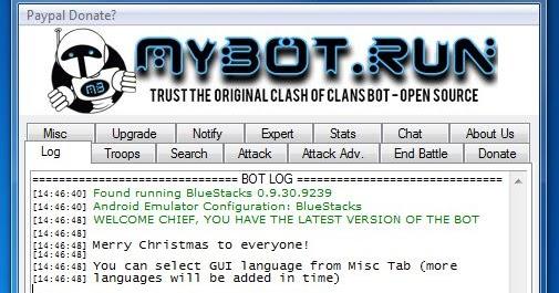 CoC Farming Bot: Mybot