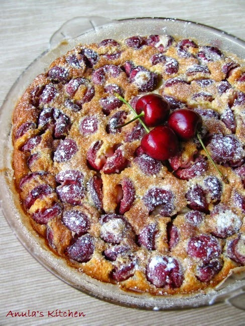 Classic French cherry clafoutis... recipe by Nigel Slater recipes