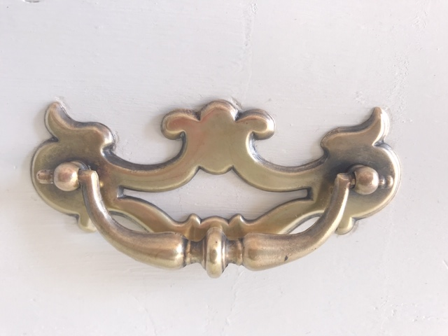 polished Chippendale bat wing bail pull