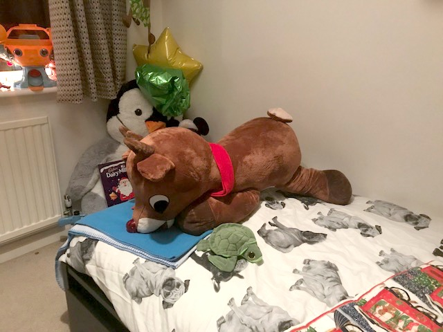 giant rudolph soft toy