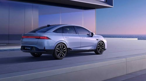 P5 ... a self-driving car from the Chinese rival Tesla