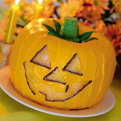 Pumpkin Cake O' Lantern Recipe