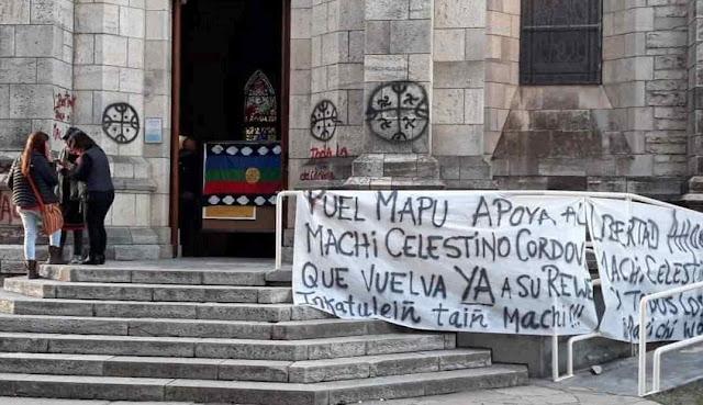 'Movimiento social' mapuche invade catedral de Bariloche