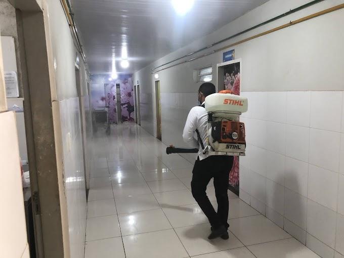 Secretaria de Saúde promove higienização e desinfecção do Hospital do Divino Espírito Santo