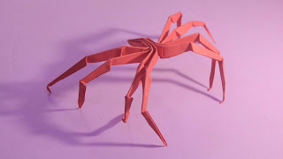 how to make a origami spider step by step