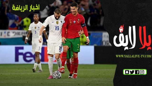 ما قاله كريم بنزيمة لكريستيانو رونالدو خلال مباراة البرتغال وفرنسا