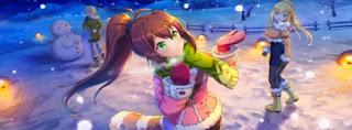 Rin sparkling snowy landscape