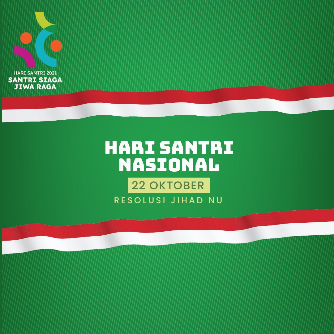 Poster Gambar Ucapan Selamat Hari santri Nasional - 22 Oktober