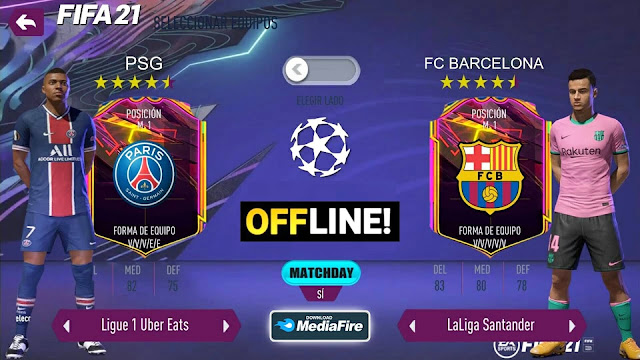 FIFA 21 Android Offline 900MB Best Graphics New Faces Kits & Full Transfers
