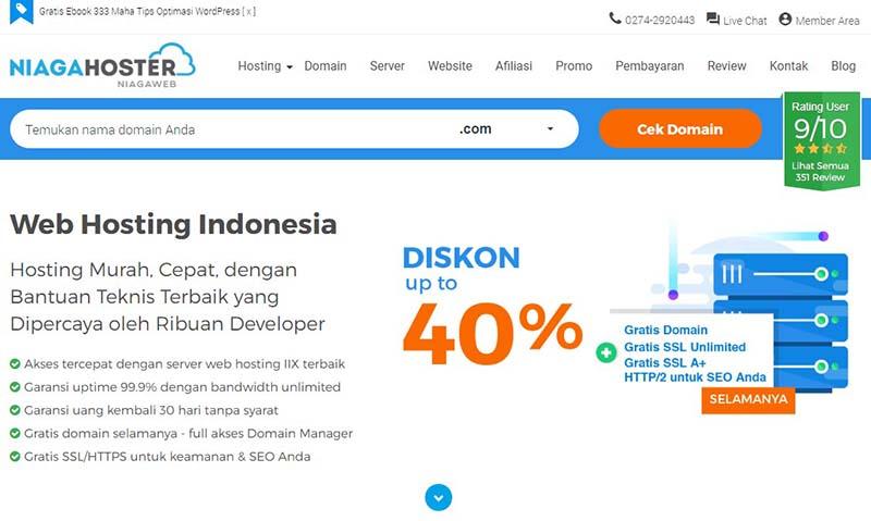Niagahoster Review  Web Hosting Indonesia Hosting Murah