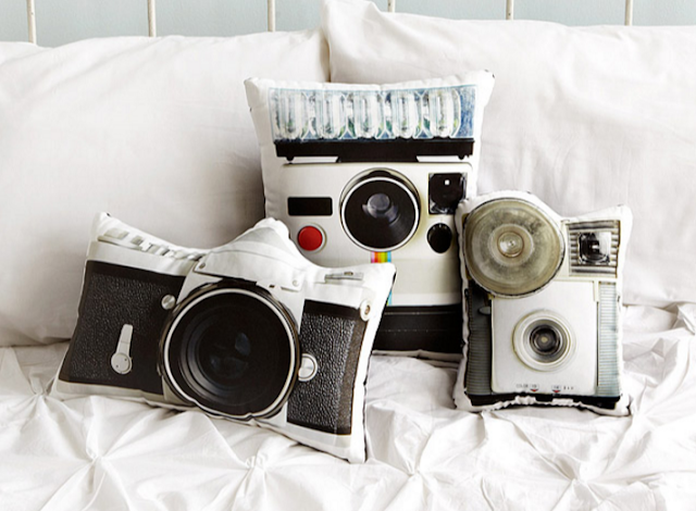 Vintage Camera Pillows from Uncommon Goods