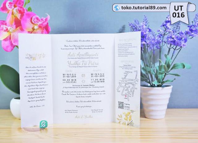 Undangan pernikahan UT016 - Lipat Tiga Potrait