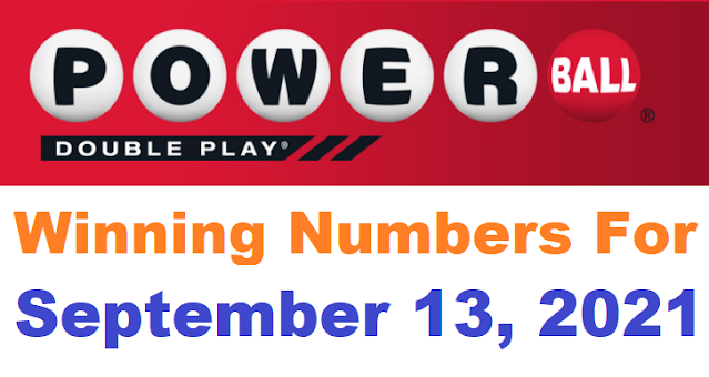 PowerBall Double Play Winning Numbers for September 13, 2021