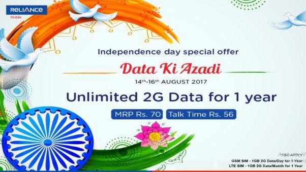 rcom independence day offer