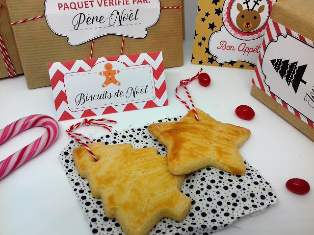 Biscuits sablés de Noël tête de coucou recette facile à faire avec les enfants