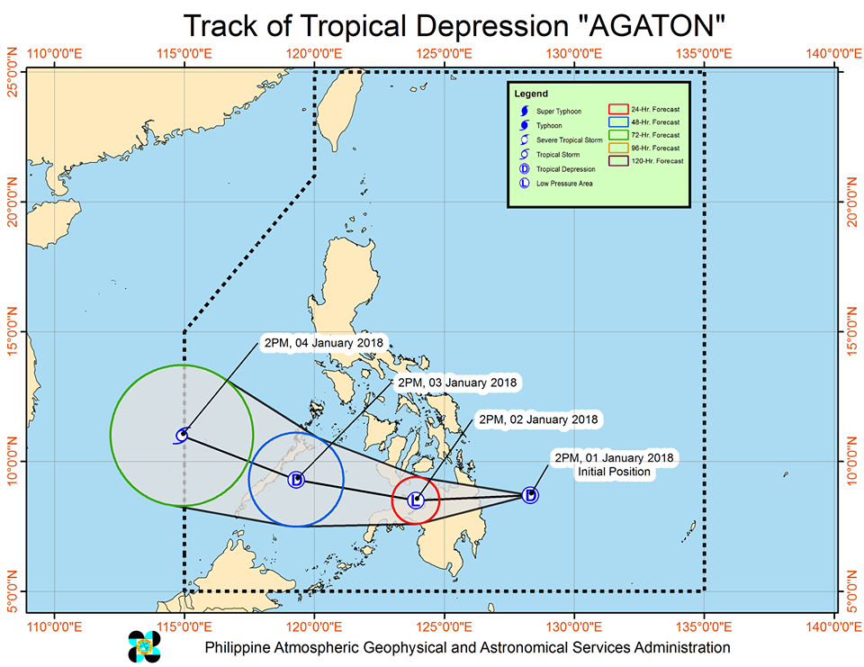 Bagyong Agaton weather forecast