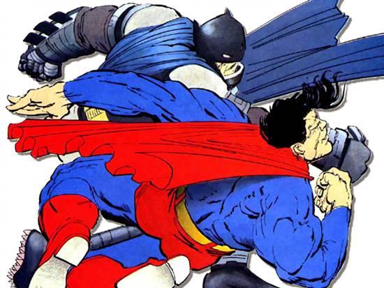 Batman vs Superman por Frank Miller en The Dark Knight Returns